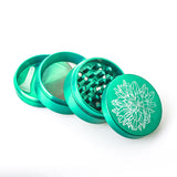 Green Zinc Alloy Weed Grinder 3 Layer For Sale | Free Canada Shipping