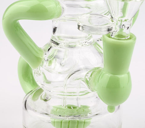 Green Recycler Showerhead Perc Dab Rig For Sale | Free Canada Shipping