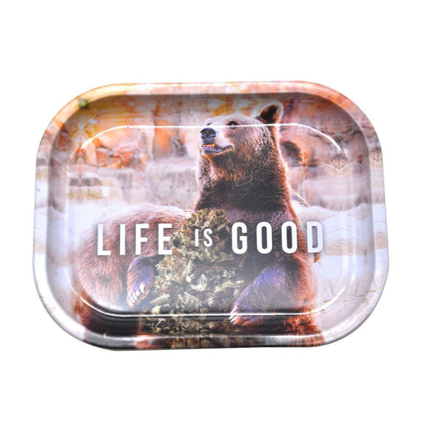 """Life is Good"" Best Metal Rolling Tray For Sale 