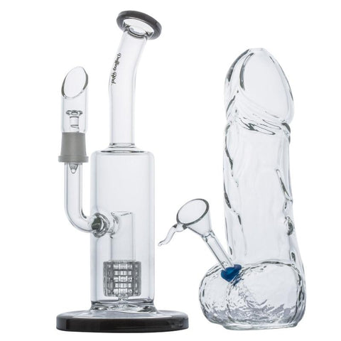 Matrix Perc Dab Rig w/ Penis Novelty Glass Bong | Free Canada Shipping