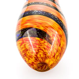 Orange Spiral Pattern Glass Pipe  Weed Bowls For Sale  Free Shipping