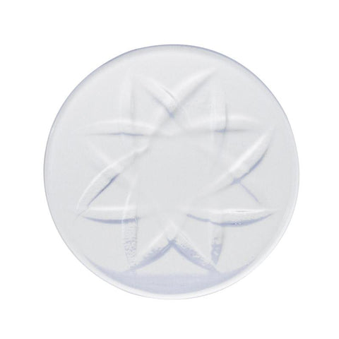 Pinwheel Quartz Channel Cap 40mm