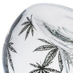 Print Leaf Double Bowls Glass Bong For Sale | Free Canada Shipping
