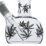 Print Leaf Double Bowls Glass Bong/Water Pipe For Sale | Free Shipping