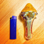 Ribbed Portable Glass Spoon Pipe | Weed Bowls For Sale | Free Shipping