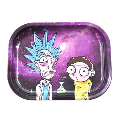 Rick&Morty Best Metal Rolling Tray For Sale | Free Canada Shipping