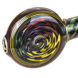 Spiral Glass Sherlock Pipe w Maria Rings  Smoke Shop  Free Shipping