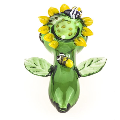 Sunflower Glass Pipe | Smoking Spoon Pipes For Sale | Free Shipping