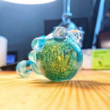 Turquoise Blue Dichroic Spoon Glass Pipe | Weed Bowls | Free Shipping
