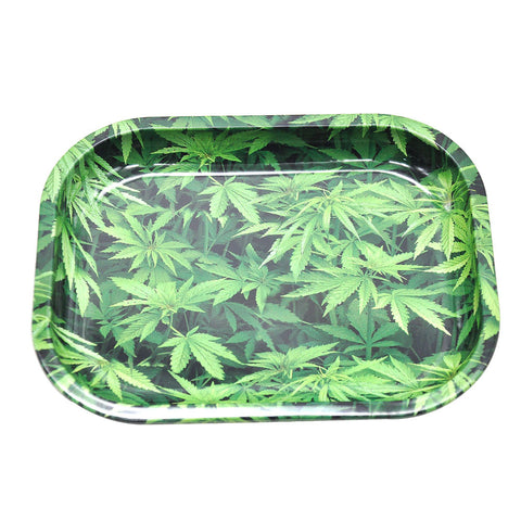 Weed Leaves Theme Best Rolling Tray For Sale | Free Canada Shipping
