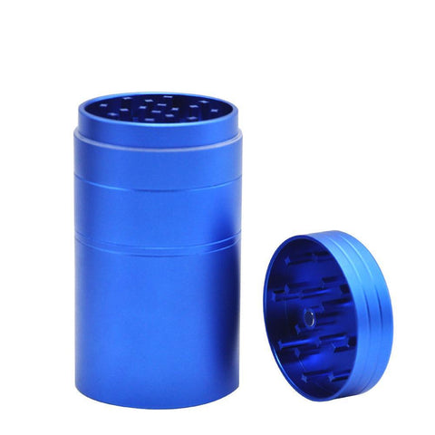 Heavy Duty Novelty Aluminium 5 Layer Grinder With Extra Large Storage - Blue