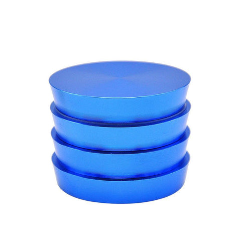 Tower Of Power Novelty Herb Grinder Aluminium 4 Layer 50Mm (3 Color) - Blue