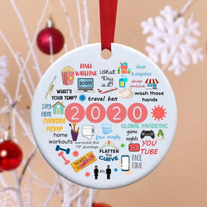 Funky Step 2020 annual events christmas ornament
