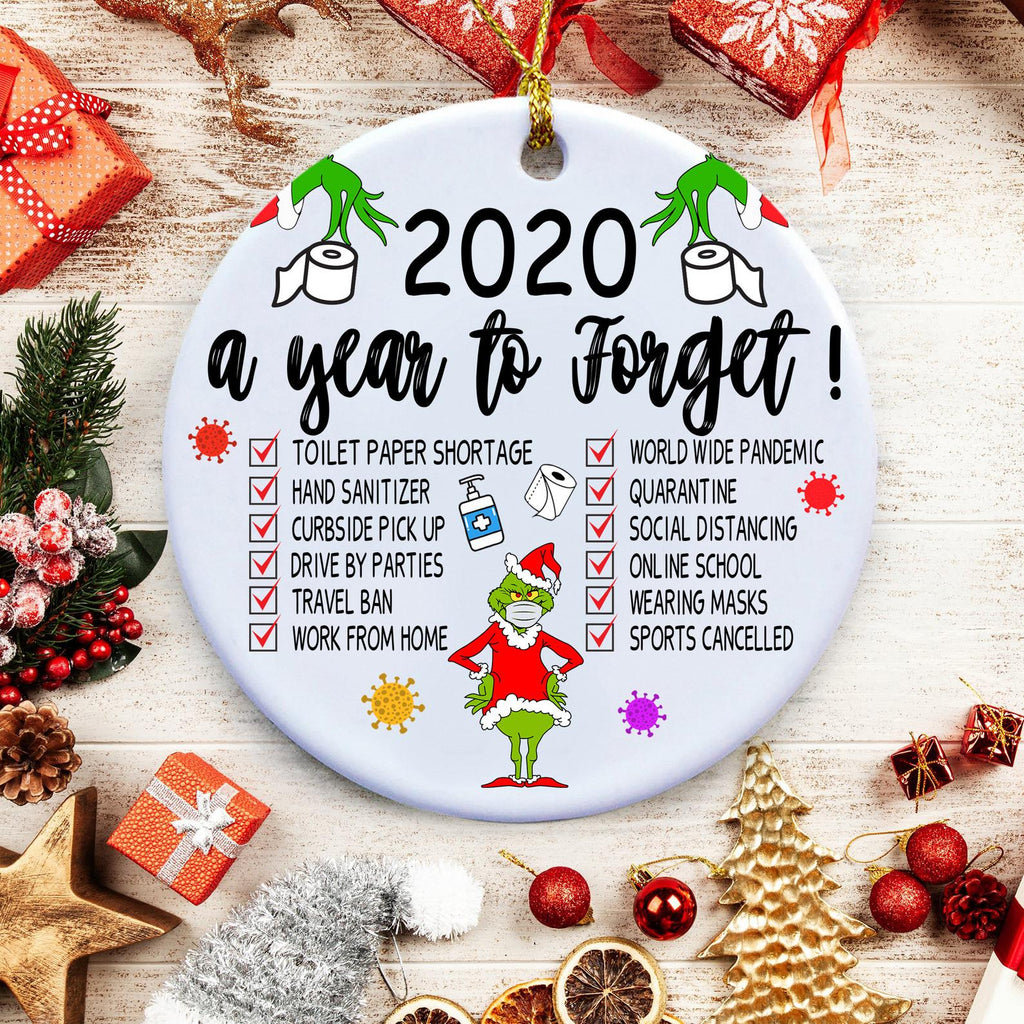 2020 Christmas Ornaments, 2020 A Year To Forget, Quarantine Christmas Ornaments - CASABILANKA