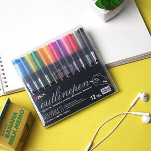 Marker Pen for Highlight  (8 Pens Per Set)