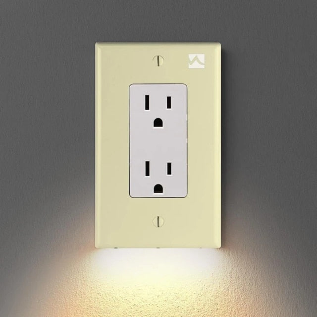 Wall Outlet Cover with LED Night Lights - CASABILANKA