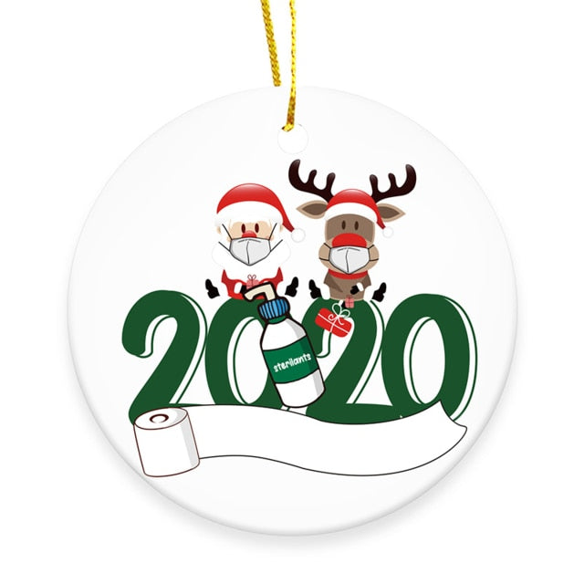 2020 Christmas Ornament Ceramic Unique Gift for Friends and Families