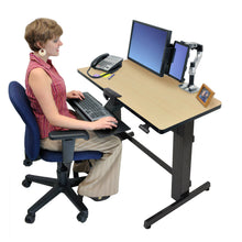 "Load image into Gallery viewer, Ergotron WorkFit-D 48"" Wide Pneumatic Adjustable Height Standing Desk-Pneumatic Standing Desks-Ergotron-Ergo Standing Desks"