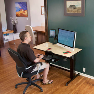 "Ergotron WorkFit-D 48"" Wide Pneumatic Adjustable Height Standing Desk-Pneumatic Standing Desks-Ergotron-Ergo Standing Desks"