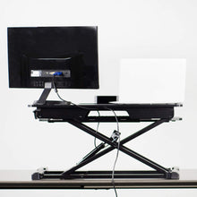 "Load image into Gallery viewer, Vivo 32"" Wide Adjustable Sit Stand Desk Converter-Standing Desk Converters-Vivo-Ergo Standing Desks"