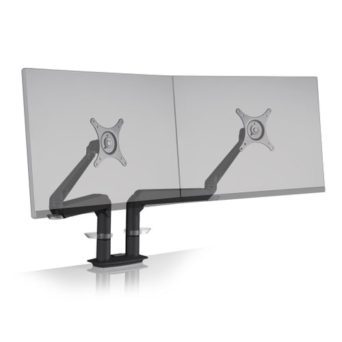 Innovative Evo Articulating Dual Monitor Arm Mount-Monitor Arms-Innovative-Vista Black-Ergo Standing Desks