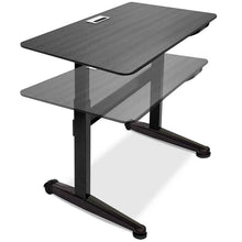 "Load image into Gallery viewer, Iceberg 47"" Wide Pneumatic Adjustable Height Standing Desk-Pneumatic Standing Desks-Iceberg-Black-Black-Ergo Standing Desks"