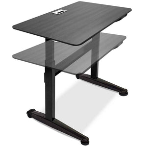 "Iceberg 47"" Wide Pneumatic Adjustable Height Standing Desk-Pneumatic Standing Desks-Iceberg-Black-Black-Ergo Standing Desks"