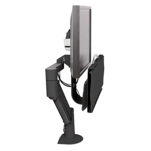 Innovative 7509 Data Entry Single Monitor Arm Mount with Keyboard Tray-Monitor Arms-Innovative-Ergo Standing Desks