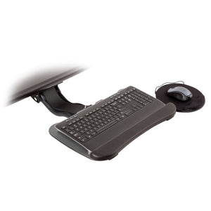 "Innovative Extended Reach 19"" Keyboard Tray With Swivel Mouse Tray and Wrist Pad-Keyboard Tray-Innovative-Black-Ergo Standing Desks"