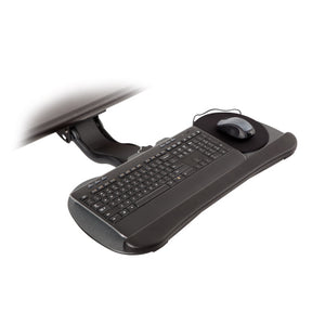 "Innovative Extended Reach Keyboard Arm With 27"" Keyboard Tray and Wrist Pad-Keyboard Tray-Innovative-Black-Ergo Standing Desks"