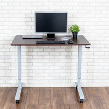 Load image into Gallery viewer, Luxor High Speed Crank Adjustable Height Mobile Sit Stand Desk-Crank Adjustable Desks-Luxor-Ergo Standing Desks