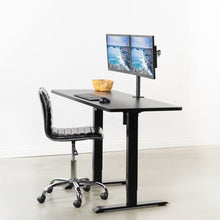 "Load image into Gallery viewer, Vivo 60"" Wide Standard Electric Adjustable Standing Desk- Black Frame-Electric Standing Desks-Vivo-Ergo Standing Desks"
