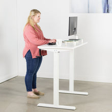 "Load image into Gallery viewer, Vivo 43"" Wide Crank Adjustable Height Sit Stand Desk-Crank Adjustable Desks-Vivo-Ergo Standing Desks"