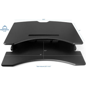 "Vivo 33"" Wide Adjustable Height Sit Stand Desk Riser- Black-Standing Desk Converters-Vivo-Black-Ergo Standing Desks"