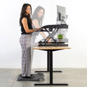 "Vivo 36"" Wide Adjustable Height Standing Desk Converter- Black-Standing Desk Converters-Vivo-Black-Ergo Standing Desks"