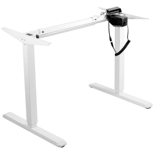 Vivo White Electric Single Motor Standing Desk Frame-Desk Frame-Vivo-Ergo Standing Desks