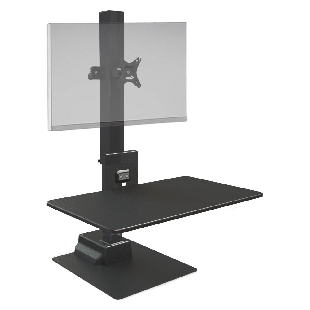 Ergotech Freedom E-Stand Electronic Standing Desk Converter with Monitor Mounts-Black-Standing Desk Converters-Ergotech-Single-Ergo Standing Desks