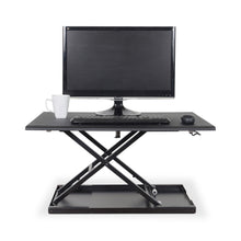 "Load image into Gallery viewer, Luxor Level Up 32"" Wide Adjustable Laptop Standing Desk Converter-Black-Standing Desk Converters-Luxor-Black-Ergo Standing Desks"