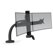 Load image into Gallery viewer, Innovative Ella Next Generation Articulating Dual Monitor Arm Mount-Monitor Arms-Innovative-Vista Black-Ergo Standing Desks