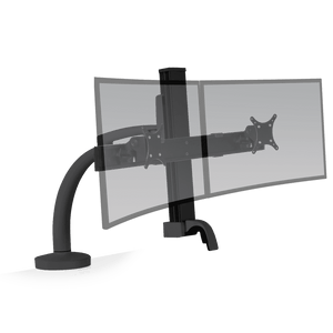 Innovative Ella Next Generation Articulating Dual Monitor Arm Mount-Monitor Arms-Innovative-Vista Black-Ergo Standing Desks