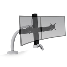 Load image into Gallery viewer, Innovative Ella Next Generation Articulating Dual Monitor Arm Mount-Monitor Arms-Innovative-Silver-Ergo Standing Desks