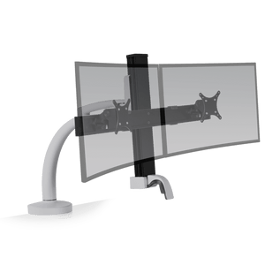 Innovative Ella Next Generation Articulating Dual Monitor Arm Mount-Monitor Arms-Innovative-Silver-Ergo Standing Desks