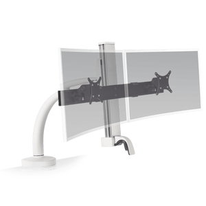 Innovative Ella Next Generation Articulating Dual Monitor Arm Mount-Monitor Arms-Innovative-Flat White-Ergo Standing Desks