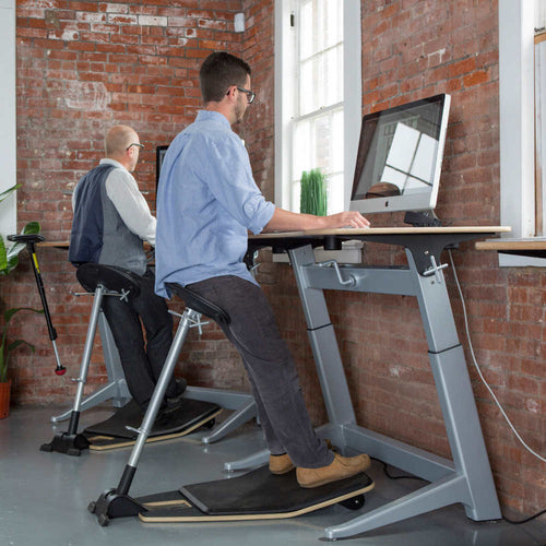 Safco Focal Upright Locus Standing Desk Stool & Mat-Ergonomic Chairs-Safco-Black-Ergo Standing Desks