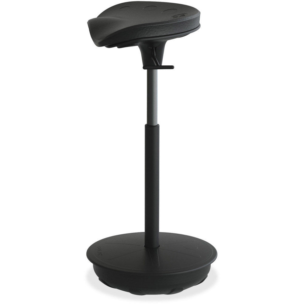 Safco Focal Upright Pivot Standing Desk Stool-Ergonomic Chairs-Safco-Black-Ergo Standing Desks