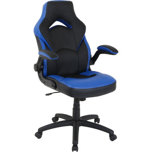 Lorell Bucket Seat High Back Gaming Chair-Gaming Chairs-Lorell-Blue-Ergo Standing Desks