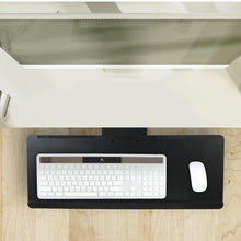Load image into Gallery viewer, Mount-It Adjustable Angled Keyboard & Mouse Tray with Gel Wrist Pad-Keyboard Tray-Mount-It-Black-Ergo Standing Desks