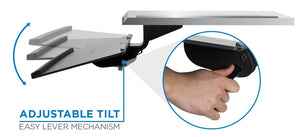 Mount-It Adjustable Angled Keyboard & Mouse Tray with Gel Wrist Pad-Keyboard Tray-Mount-It-Black-Ergo Standing Desks