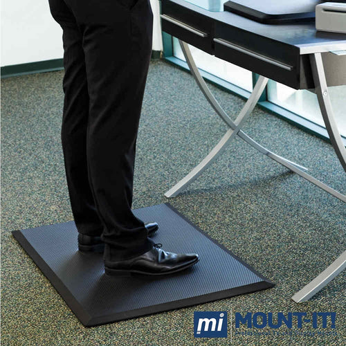 Mount-It Large Anti-Fatique Standing Desk Comfort Floor Mat-Standing Desk Mat-Mount-It-Black-Ergo Standing Desks