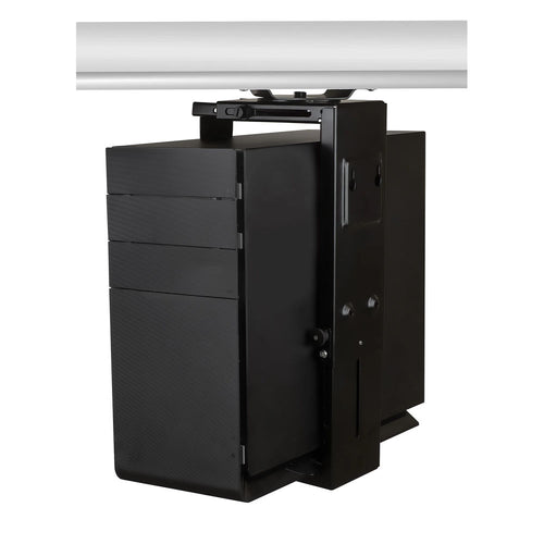 Mount-It Under Desk Mount CPU Tower Holder-CPU Holders-Mount-It-Black-Ergo Standing Desks